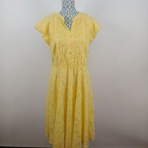 Rabbit rabbit rabbit yellow floral dress